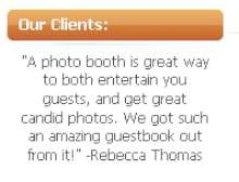  photo booth rental references p