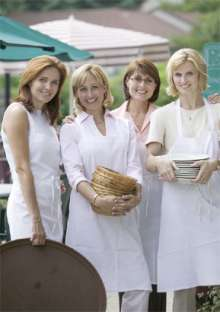 corporate wedding catering women servers photo photo.