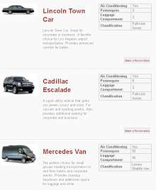 limousine limo rental lincoln town car cadillac escalade merecedes van los angeles hollywood california limo
